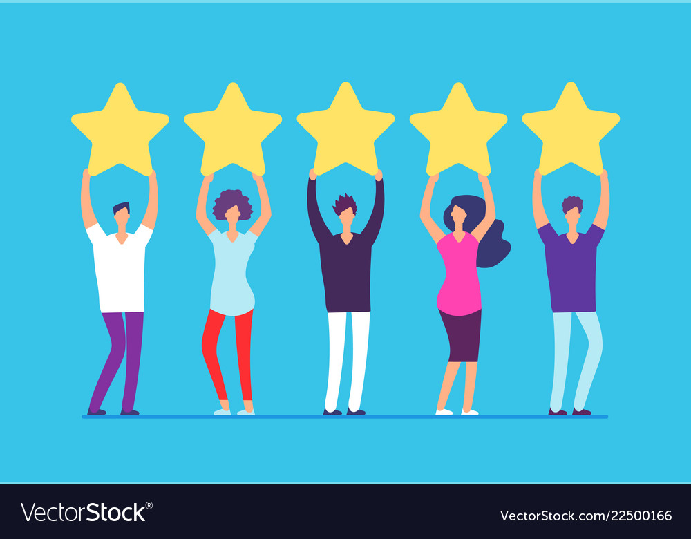 Five stars rating concept positive customer