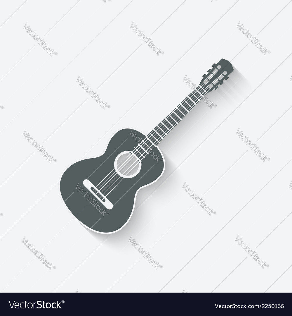Guitar music icon vector image