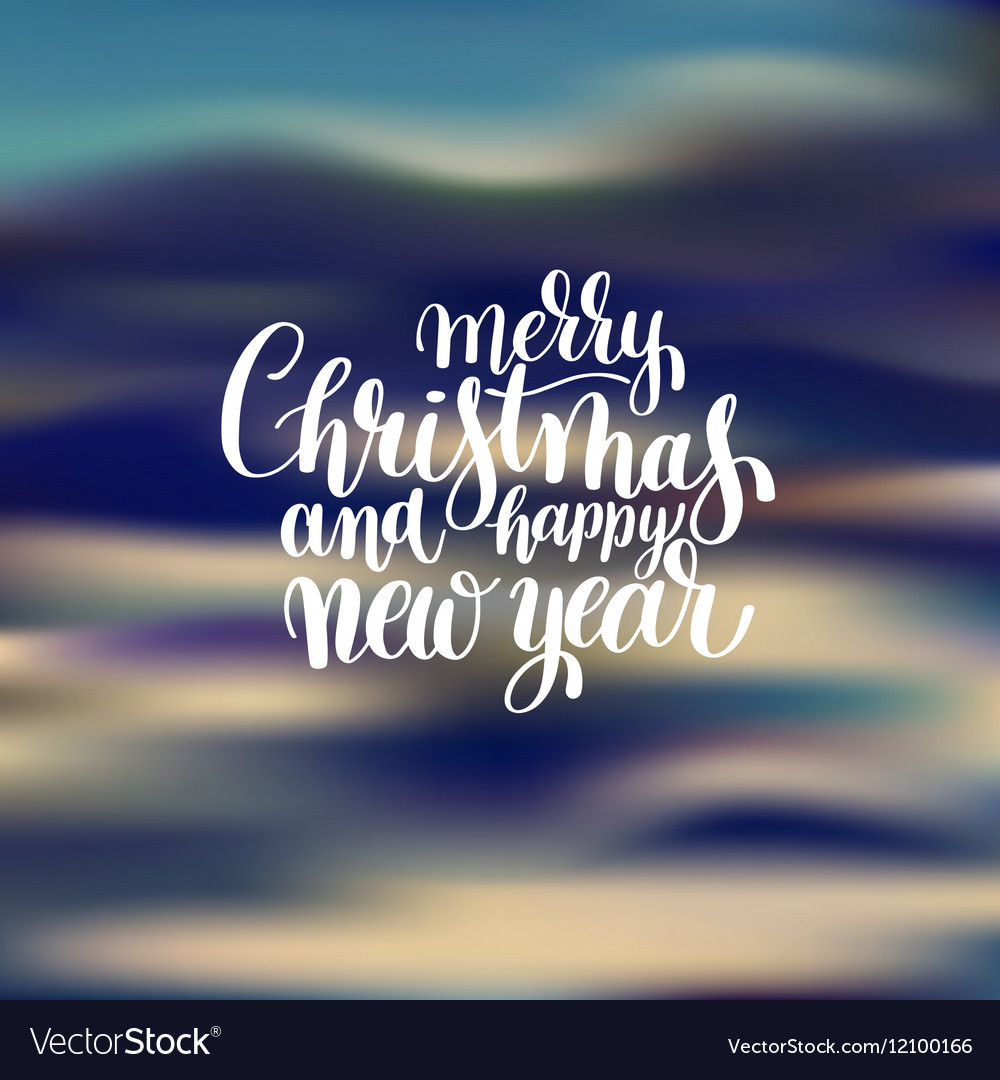 Merry Christmas and Happy New Year calligraphic