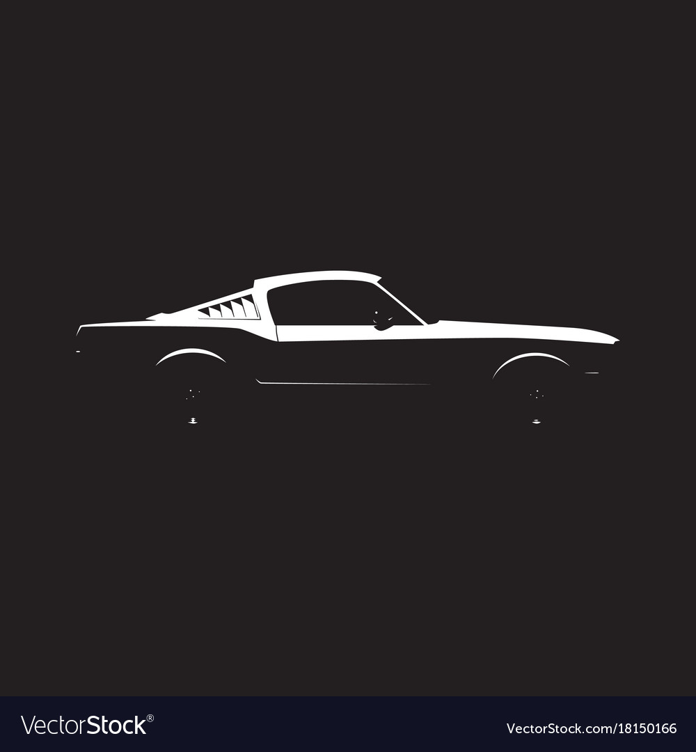 Muscle Car Silhouette Royalty Free Vector Image