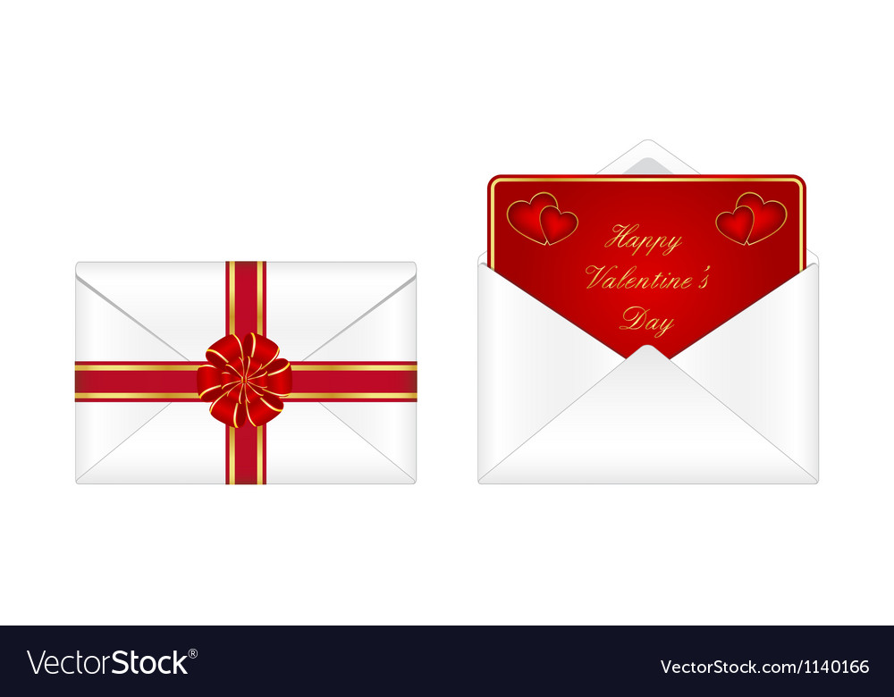 Valentines Day Envelopes Royalty Free Vector Image