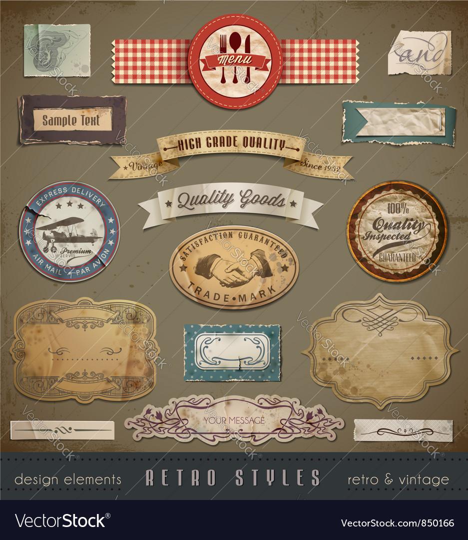 Vintage And Retro Design vector image