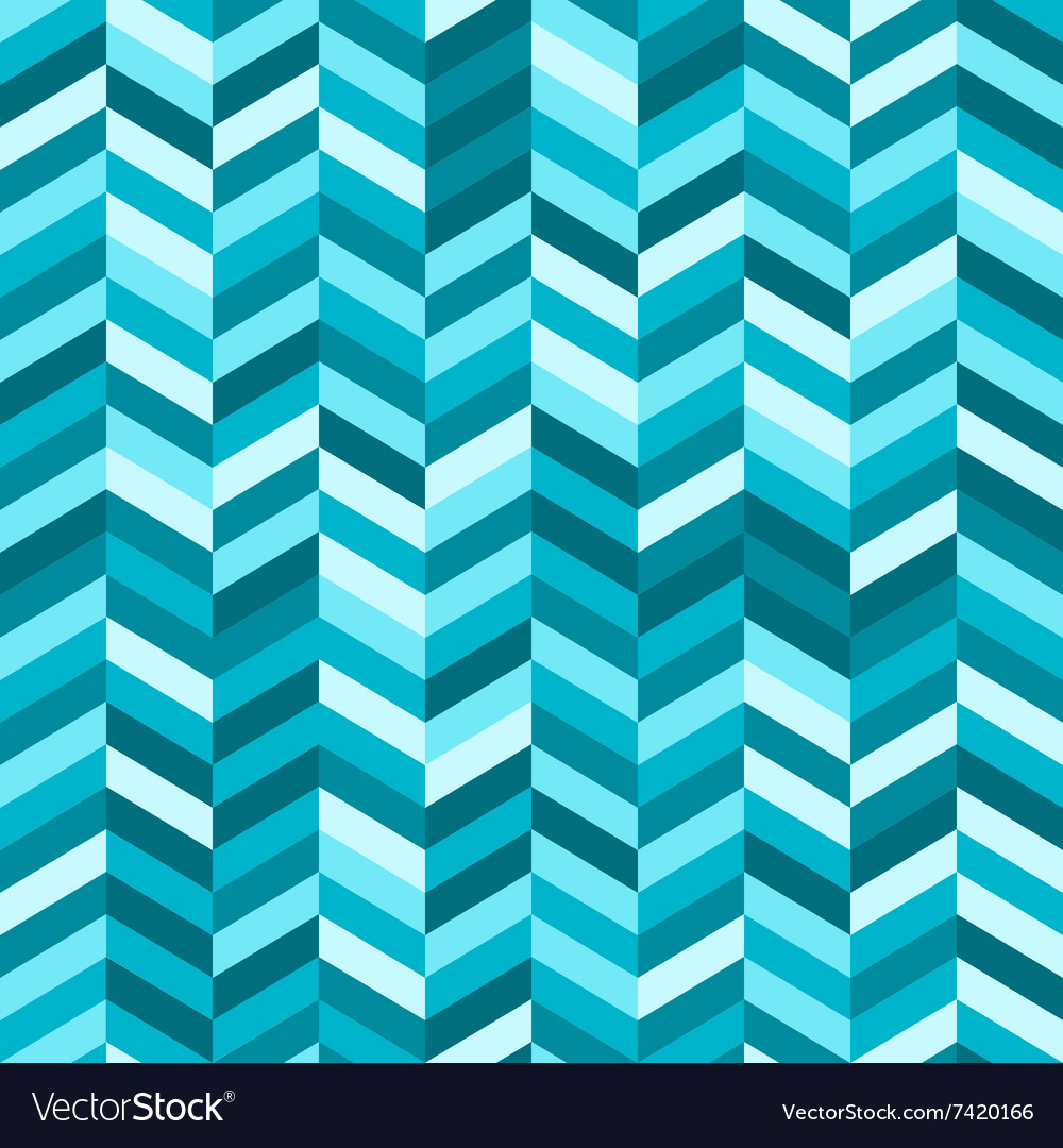 Zig Zag Abstract Background in Shades of Blue vector image