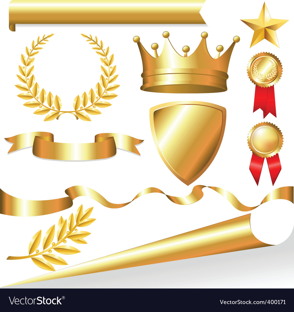 Awards icons vector image