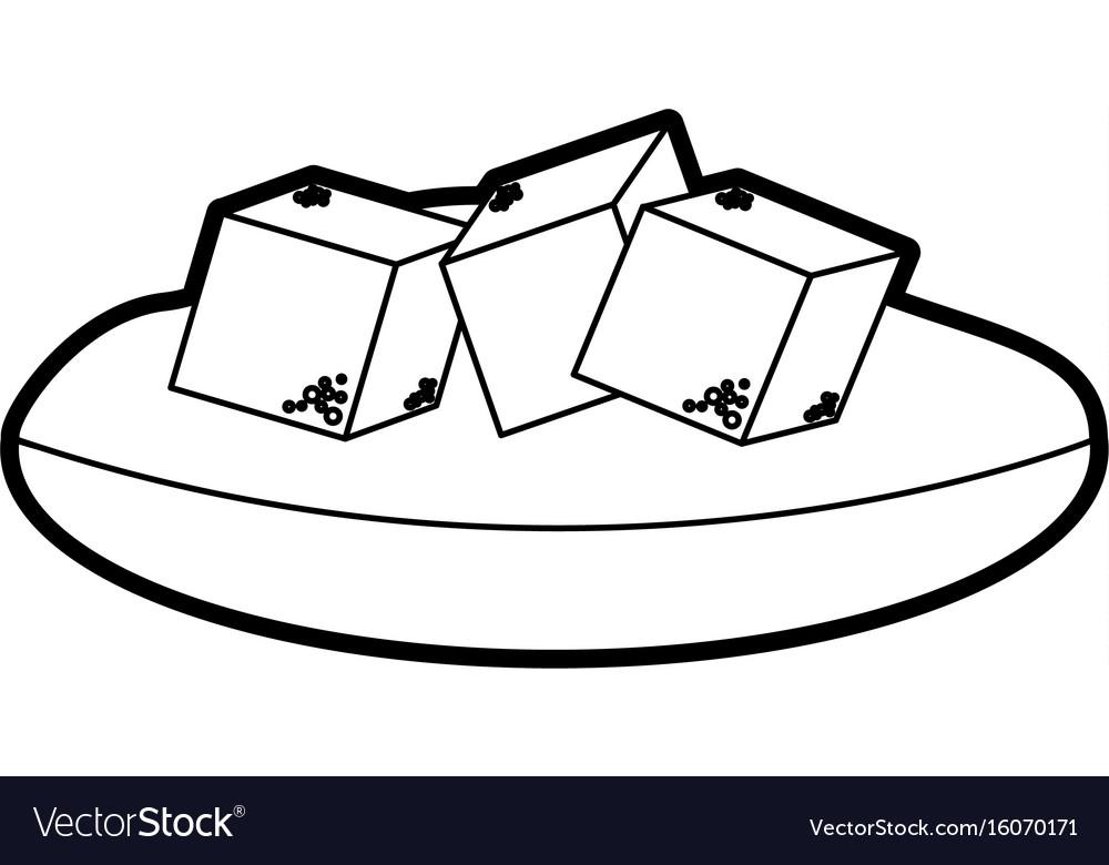 Dish with sugar cubes