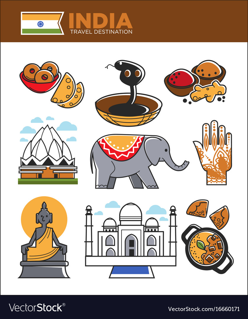 India tourism travel famous landmark symbols and