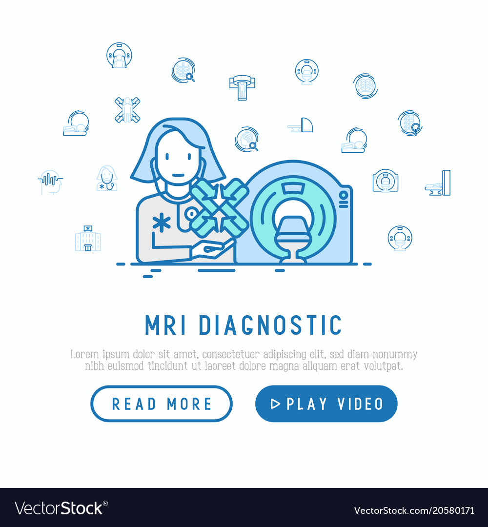 Mri diagnostics concept therapist with mri scan vector image