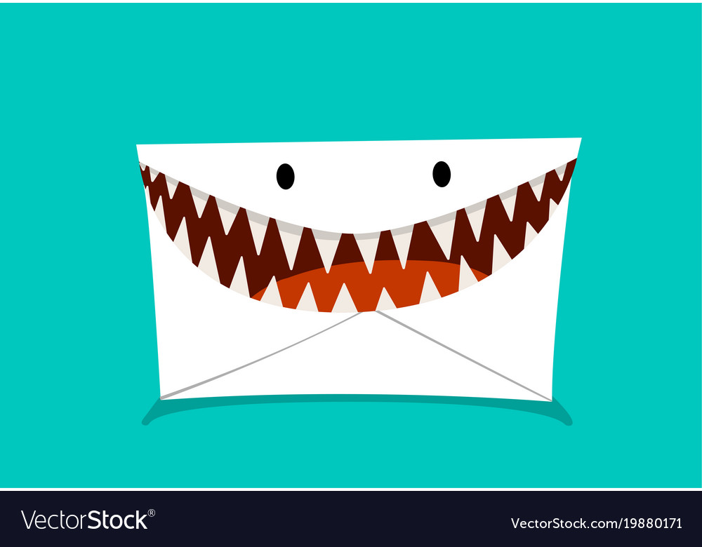 Phishing mail in monster style