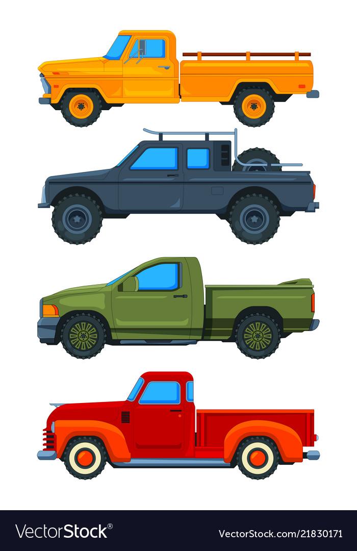 Pickup trucks various of