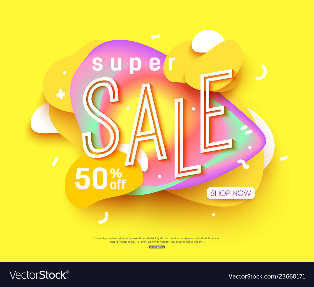 83f2abd3a Sale banner template design big sale for online Vector Image