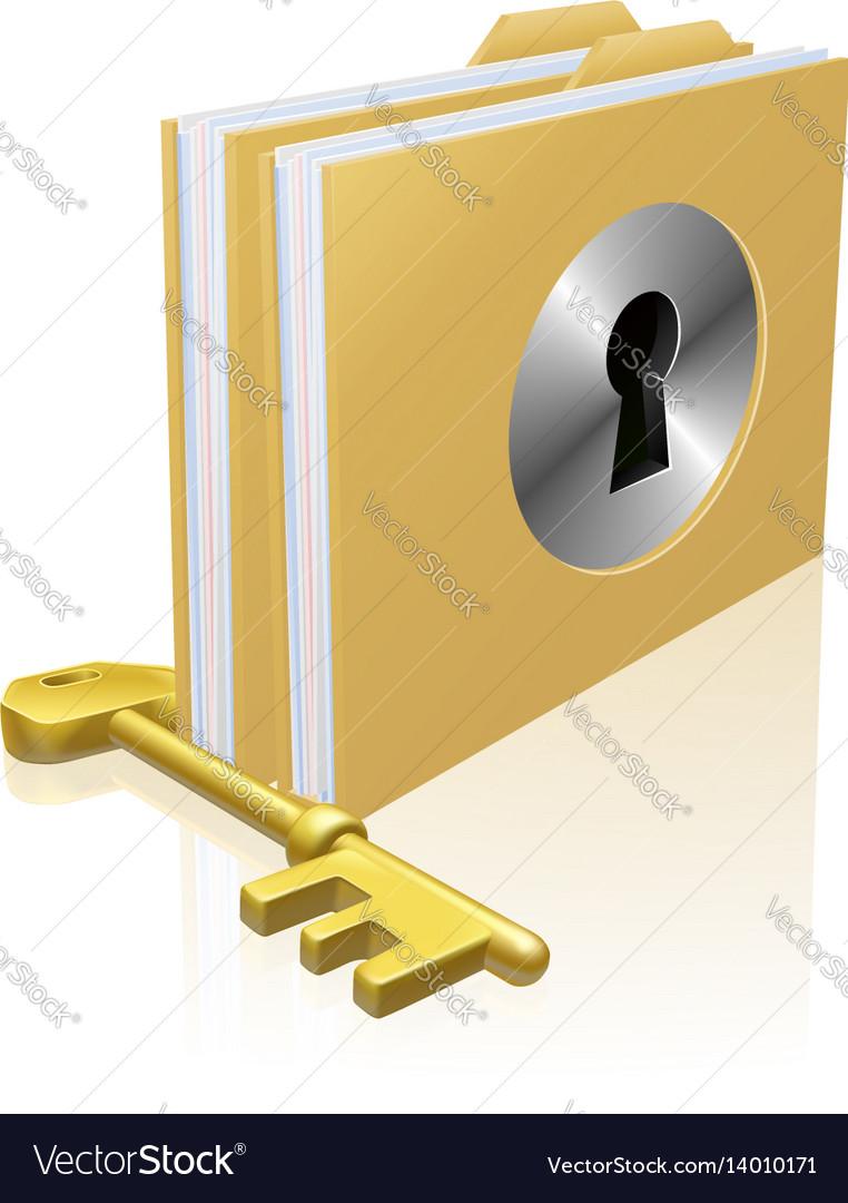 Secure file folder vector image