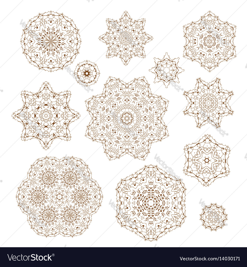 Set of circular ornaments