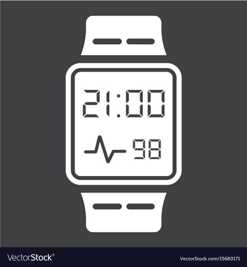 Smart watch solid icon gadget and device