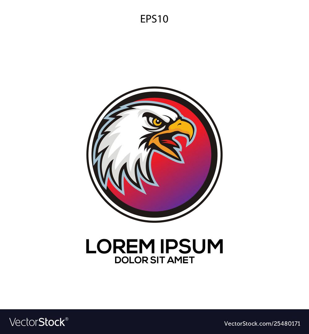 Unique logo eagle head
