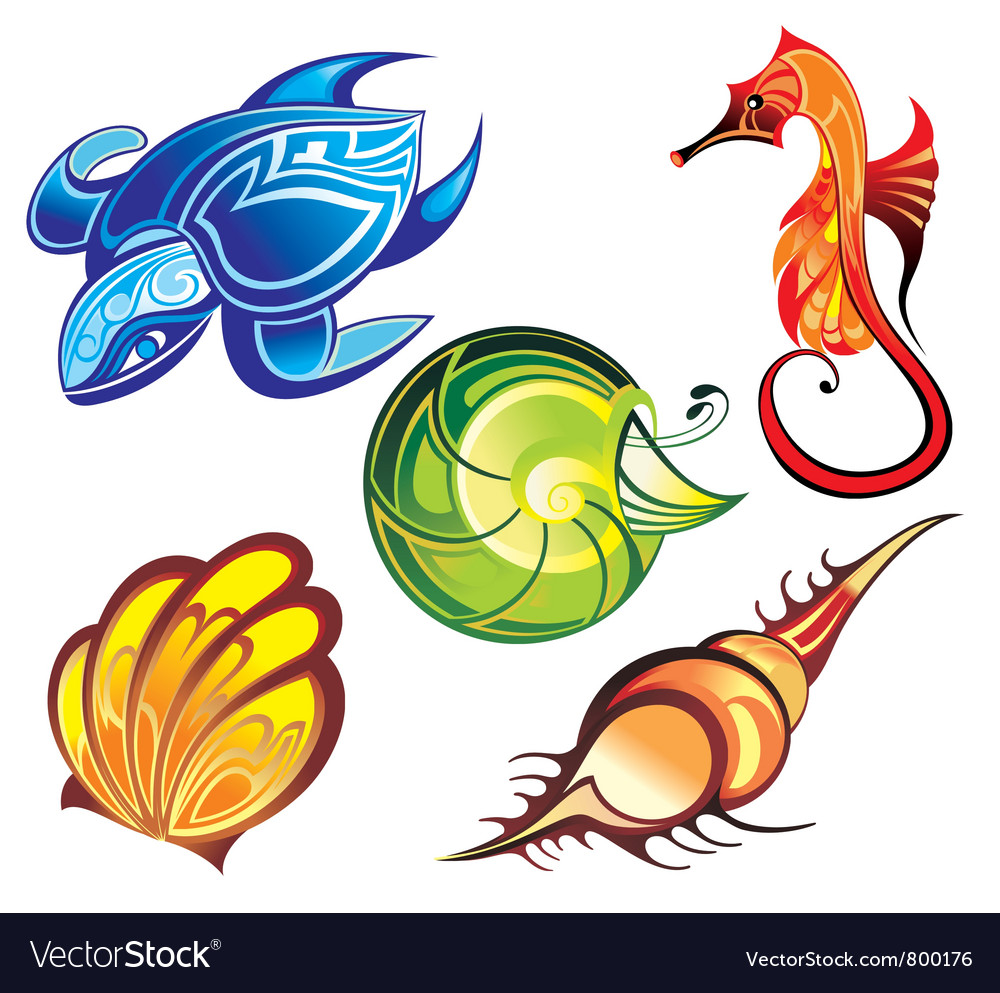 Colorful Sea animal vector image