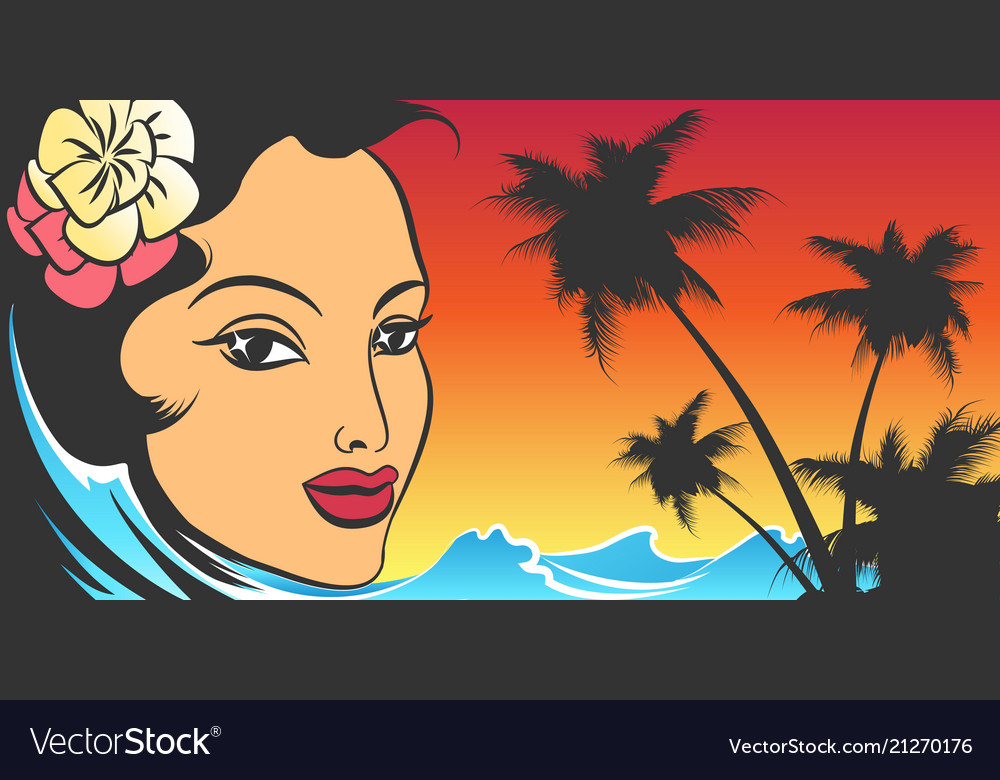 Exotic summer vacation retro poster