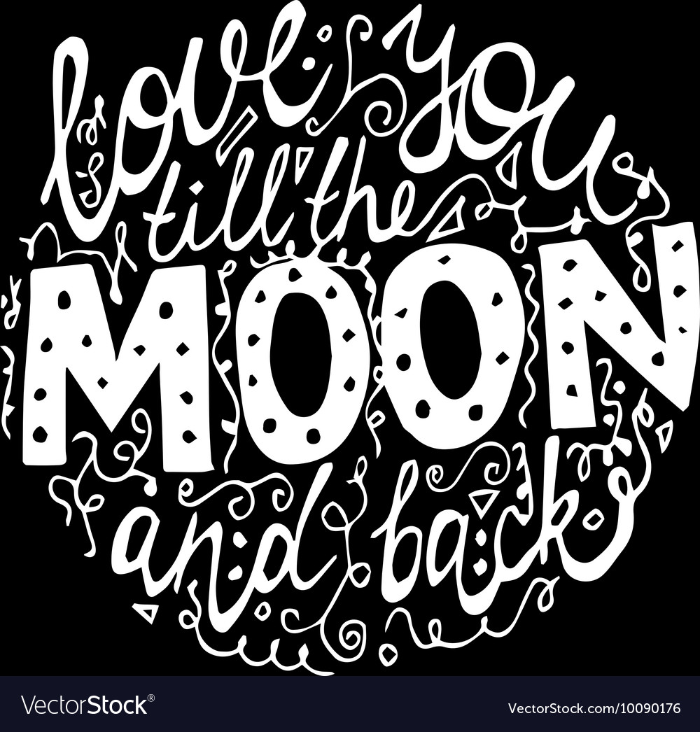 Font for moon black background