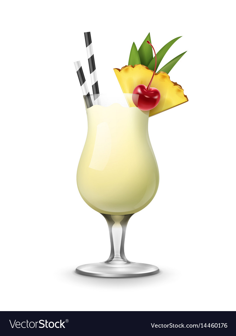 Pina colada cocktail  Pina colada cocktail Royalty Free Vector Image