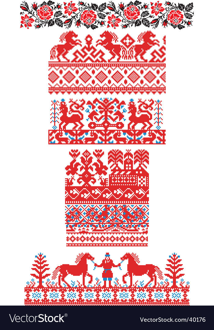 Russian embroidery ornaments