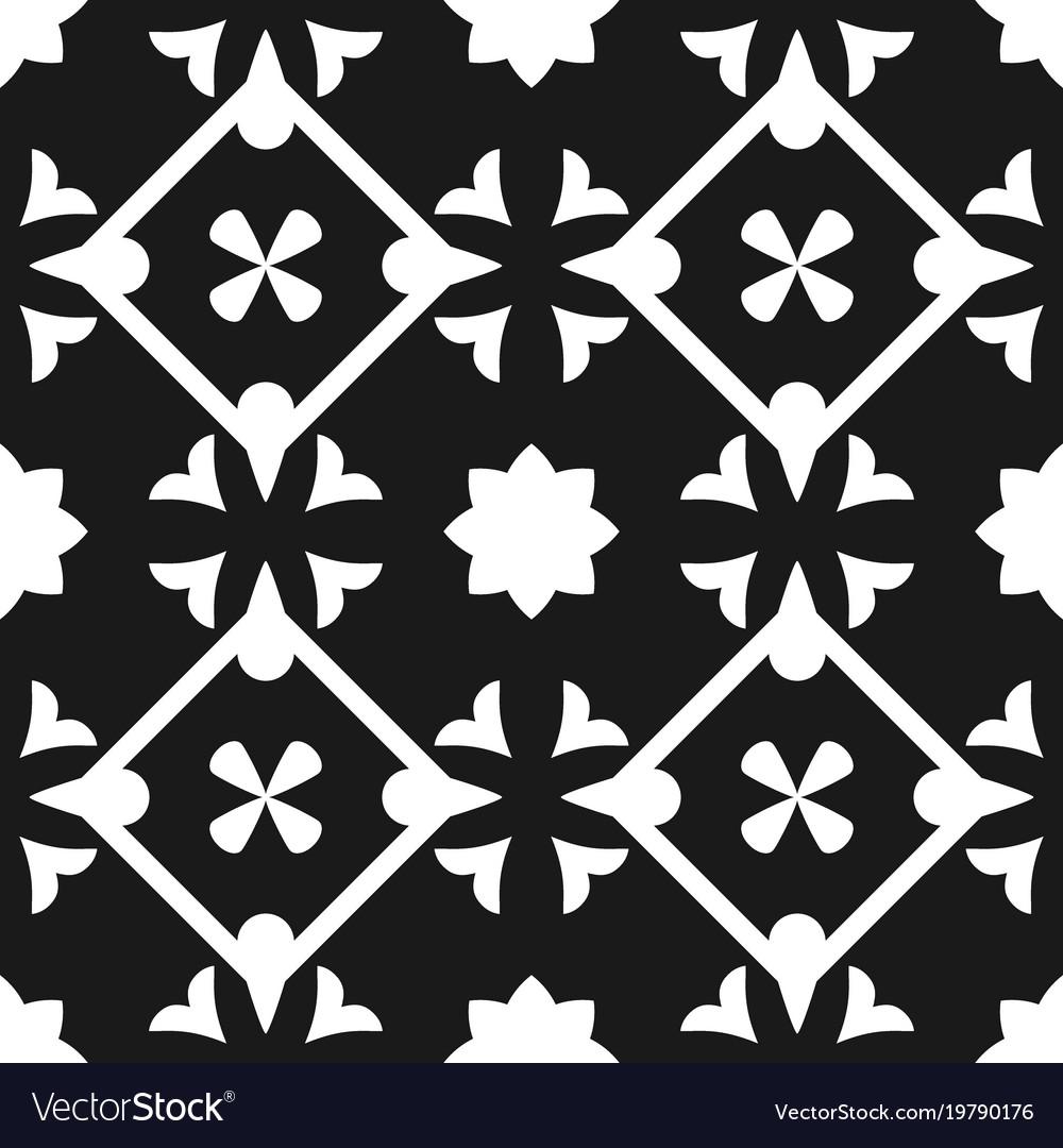 Tile Black And White Decorative Floor Tile Pattern