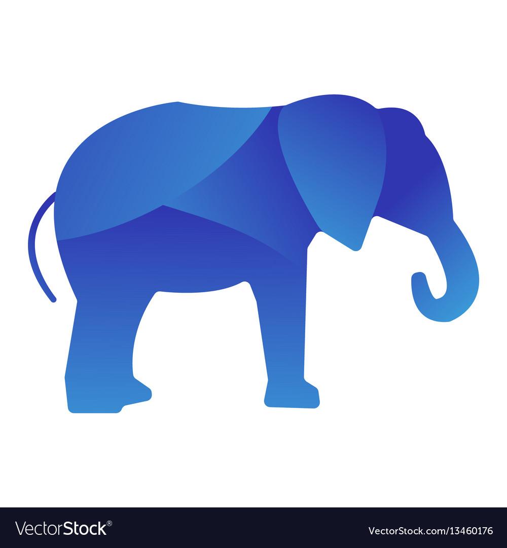 Wild elephant animal jungle logo silhouette of