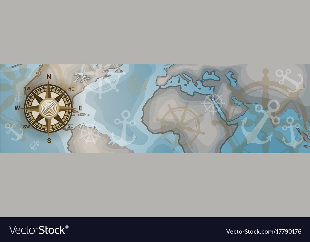 World map horizontal banner retro vintage style of world map horizontal banner retro vintage style of vector image gumiabroncs Gallery