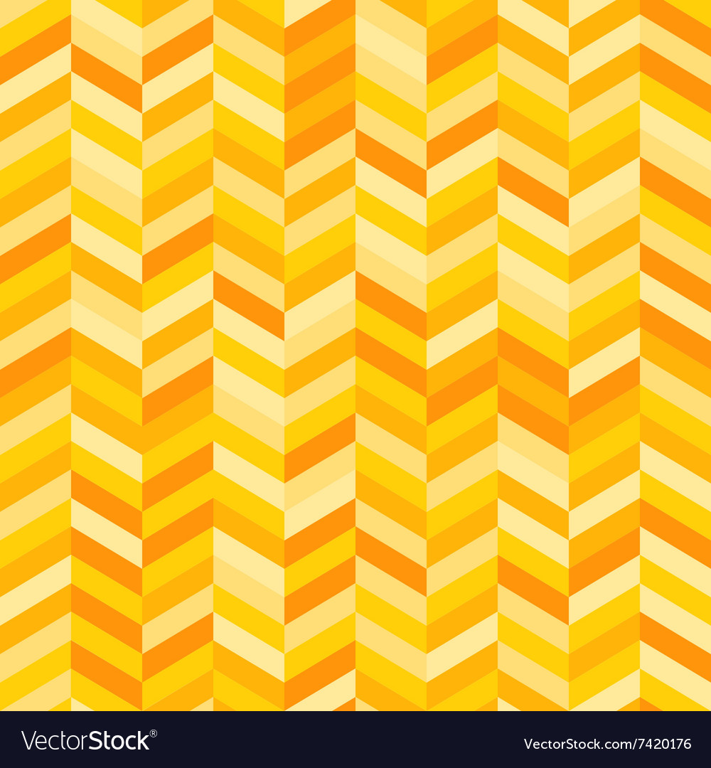 Zig Zag Background in Shades of Yellow and Orange vector image