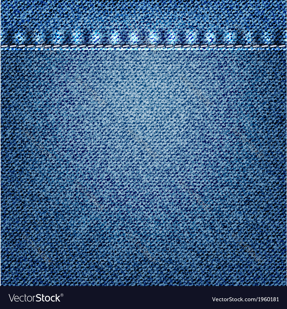 Blue Jeans Texture Royalty Free Vector Image - VectorStock