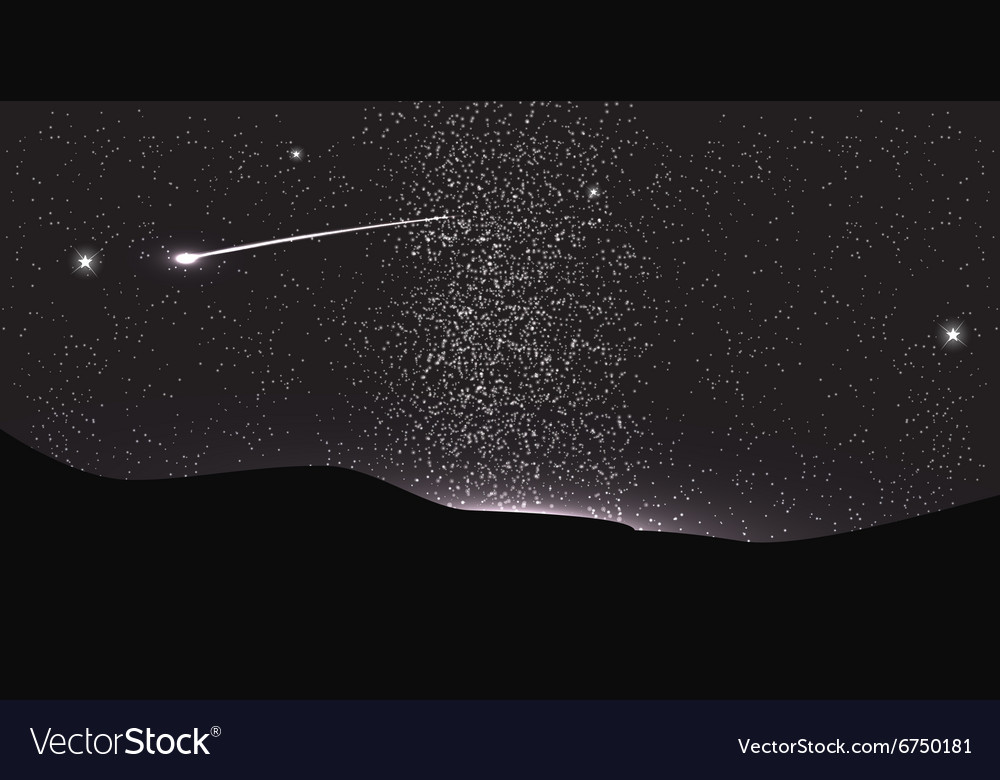 Comet Fly Around the Planet in Space