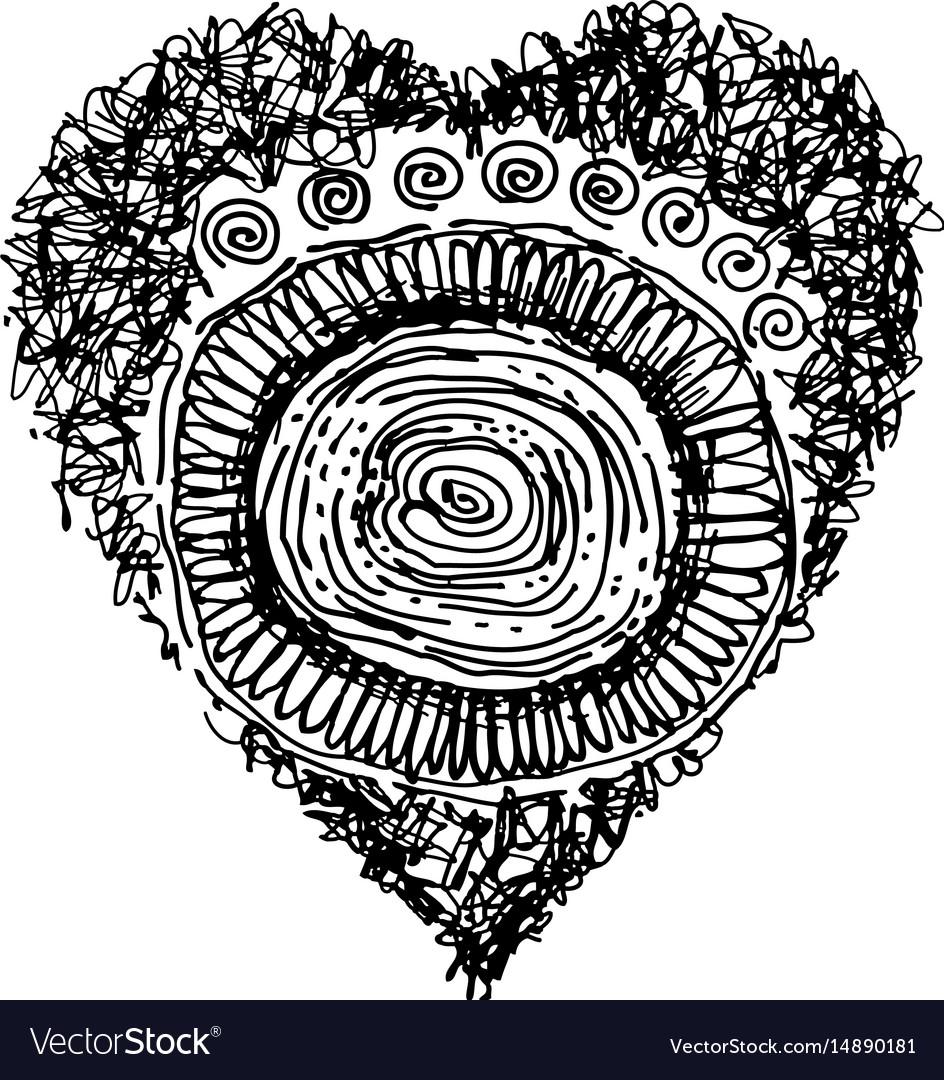 Design heart shaped on white background