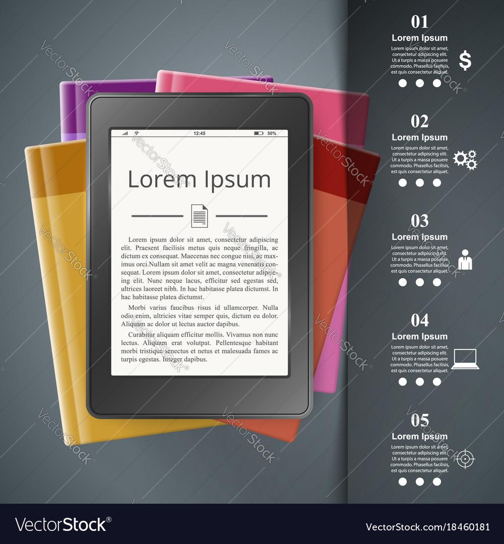 Ebook reader book reader book icon business