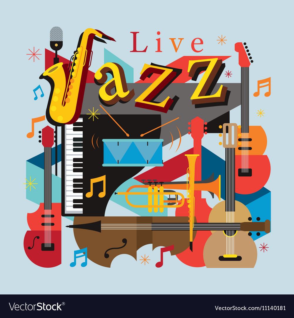 Jazz Music Instruments Background