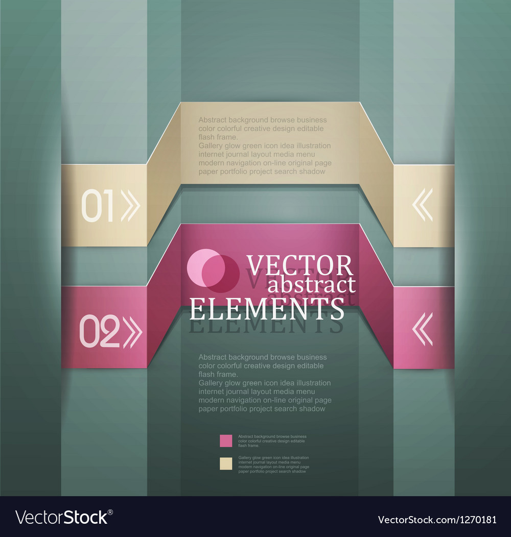 Modern banner Items for Web Business Design
