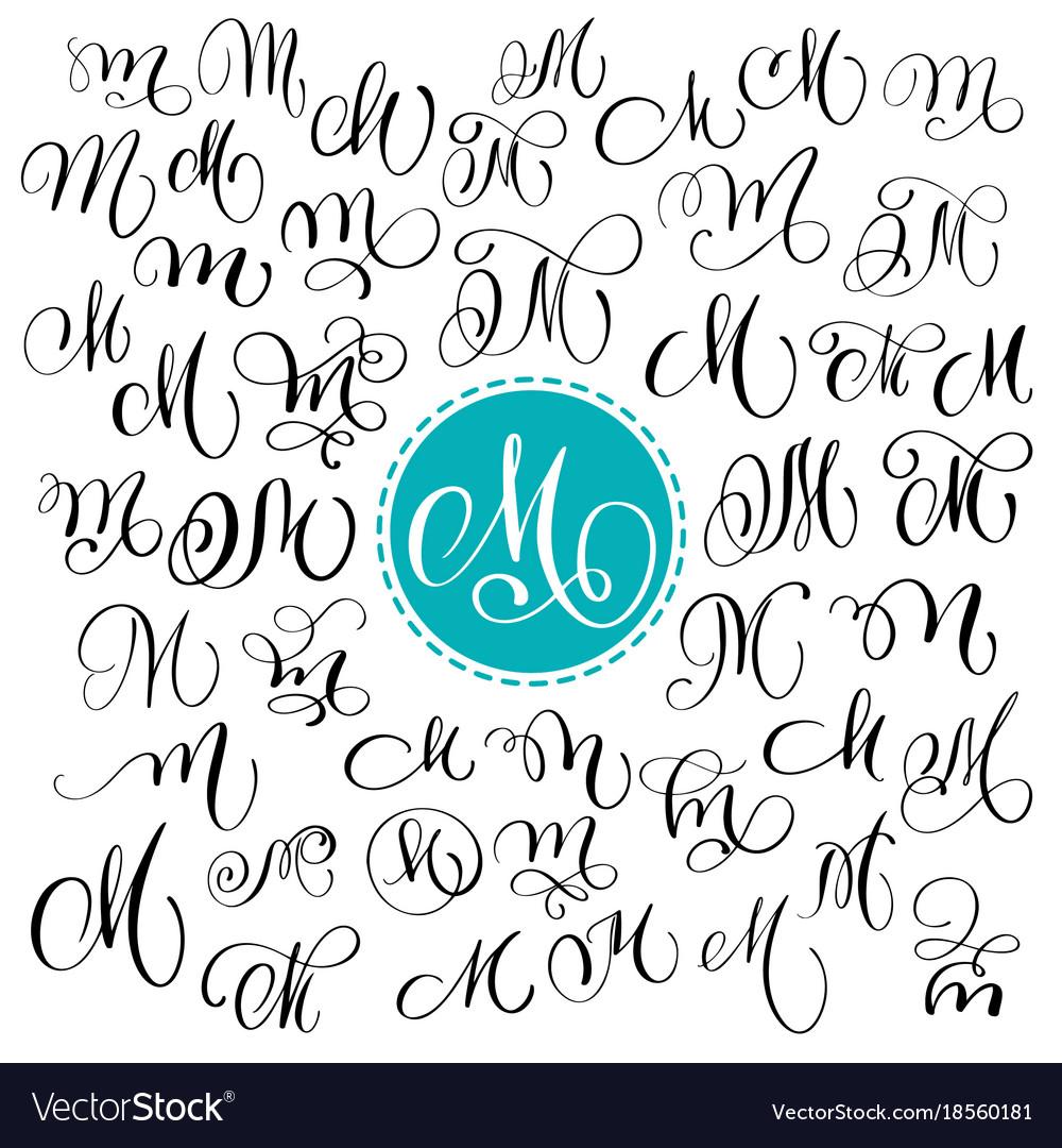 calligraphy, lettering, script, font & m vector images (53)