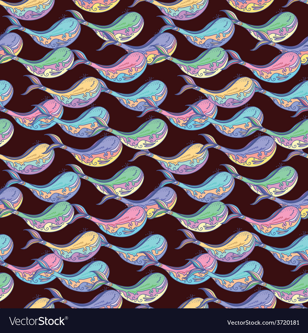 Whale contrast pattern vector image