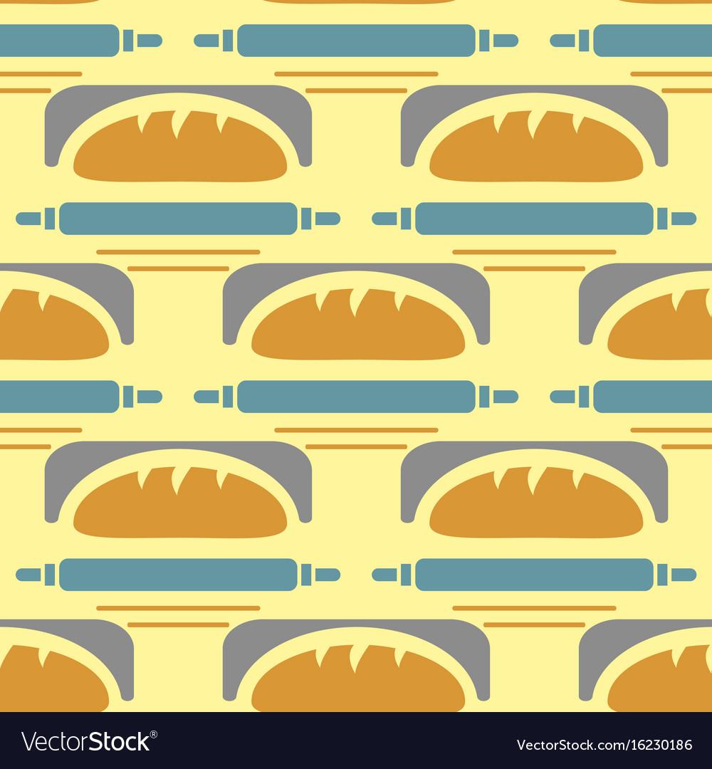 Bakery seamless pattern wheat