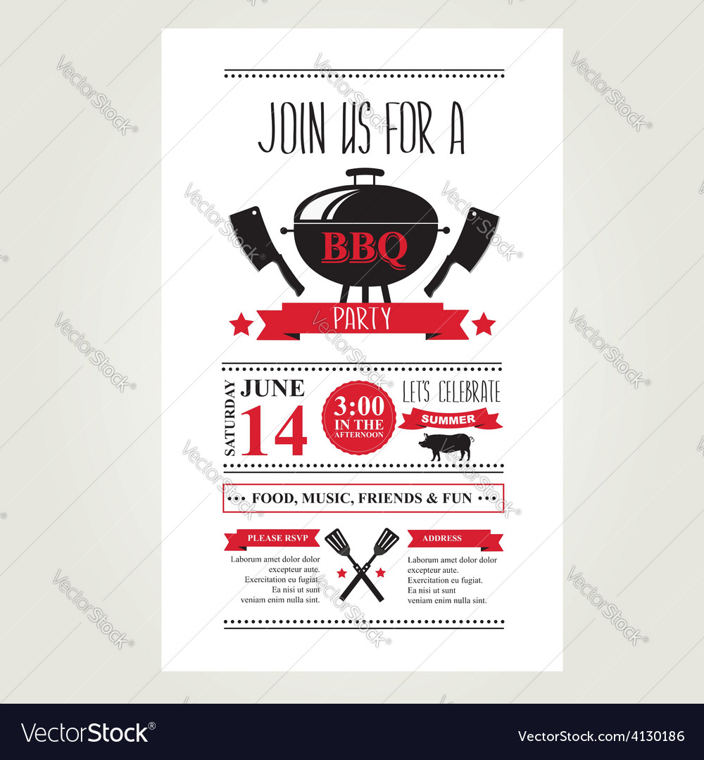 barbecue party invitation bbq brochure menu design