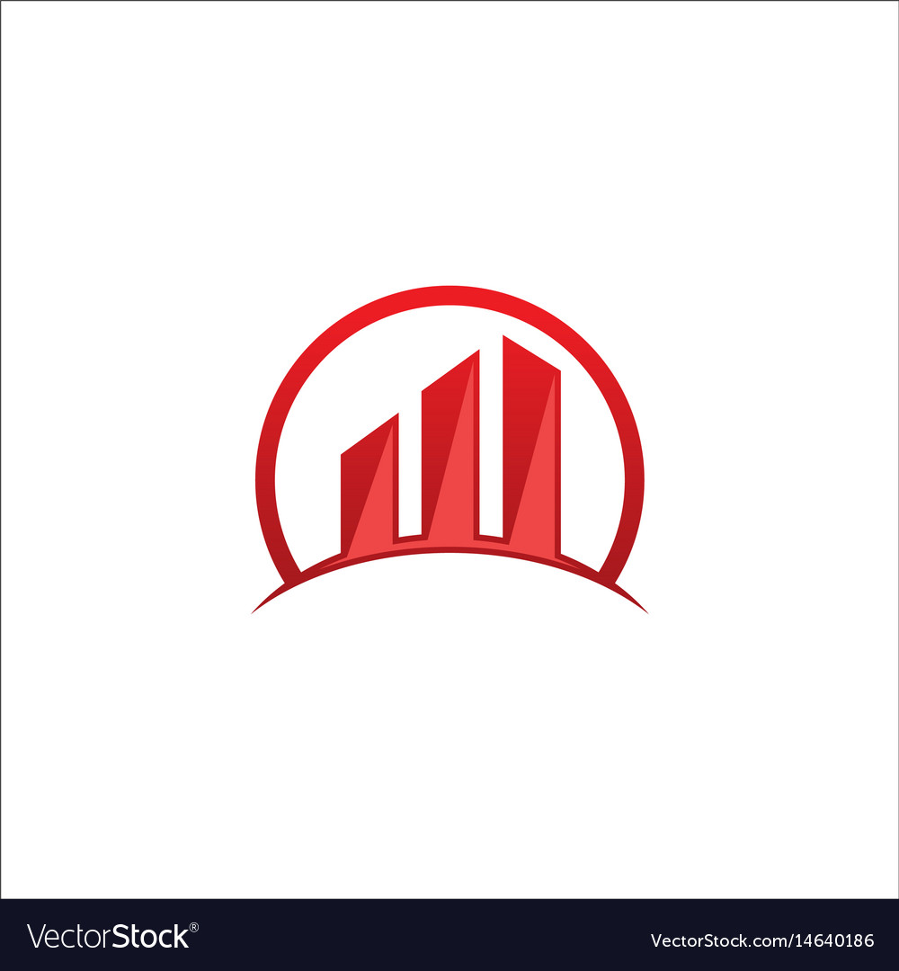 Building business chart logo