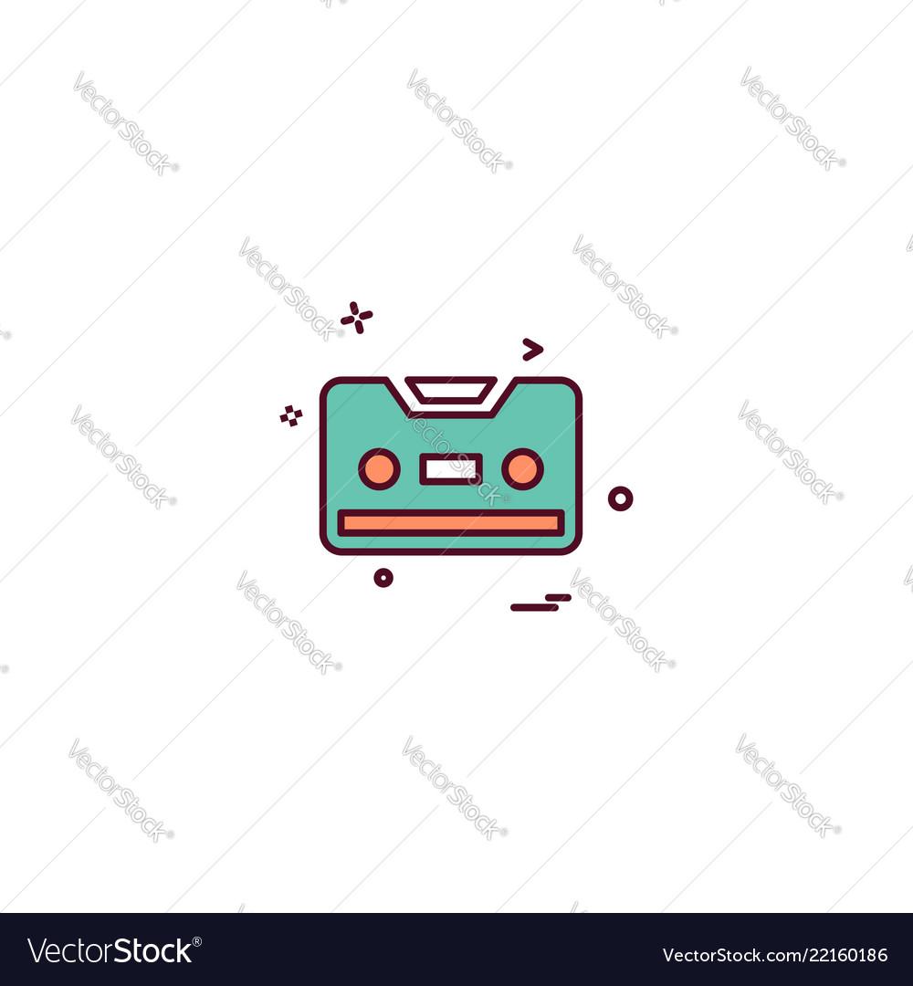 Cassette icon design