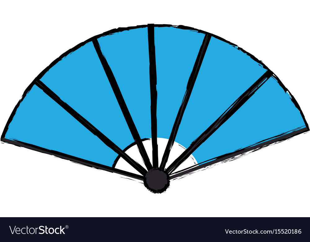 Japanese fan folding ornament traditional