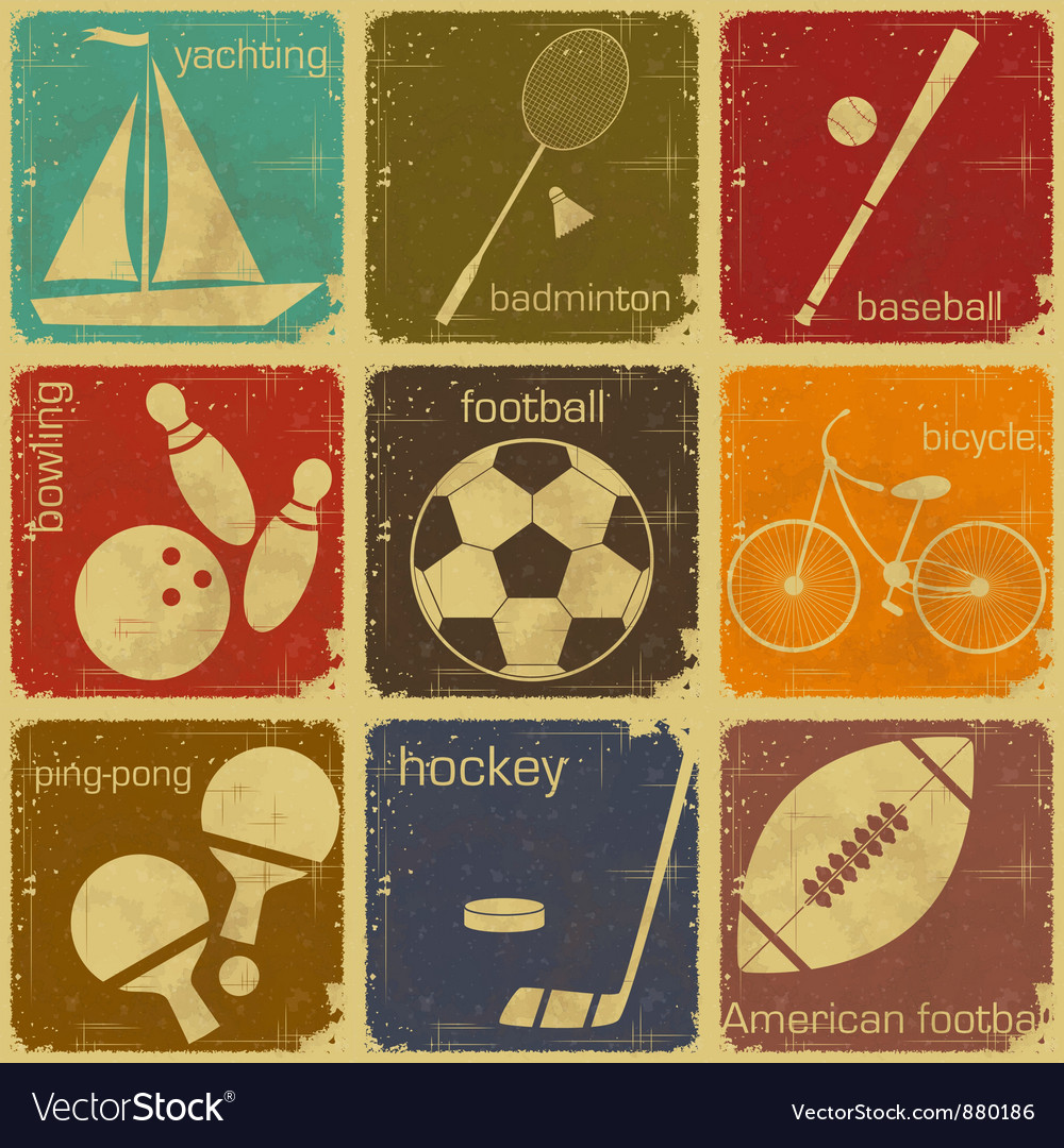 Sport icon color vector image