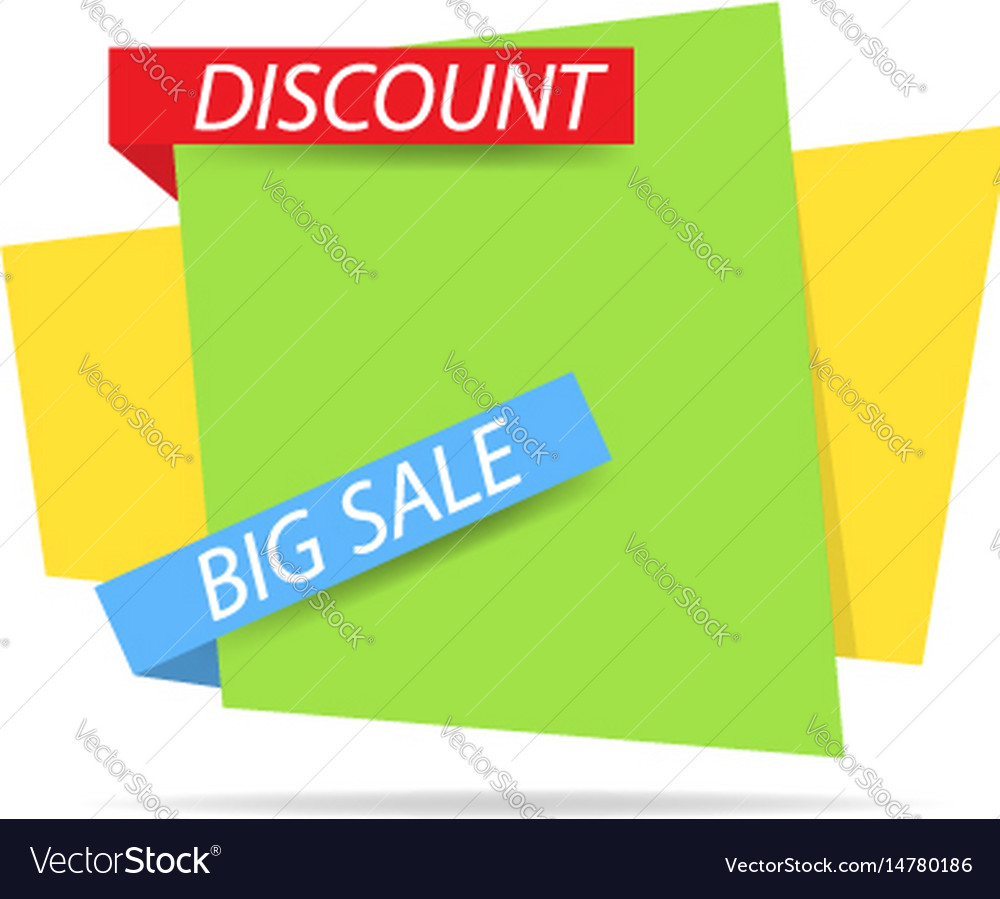 Template banner of discounts and sales