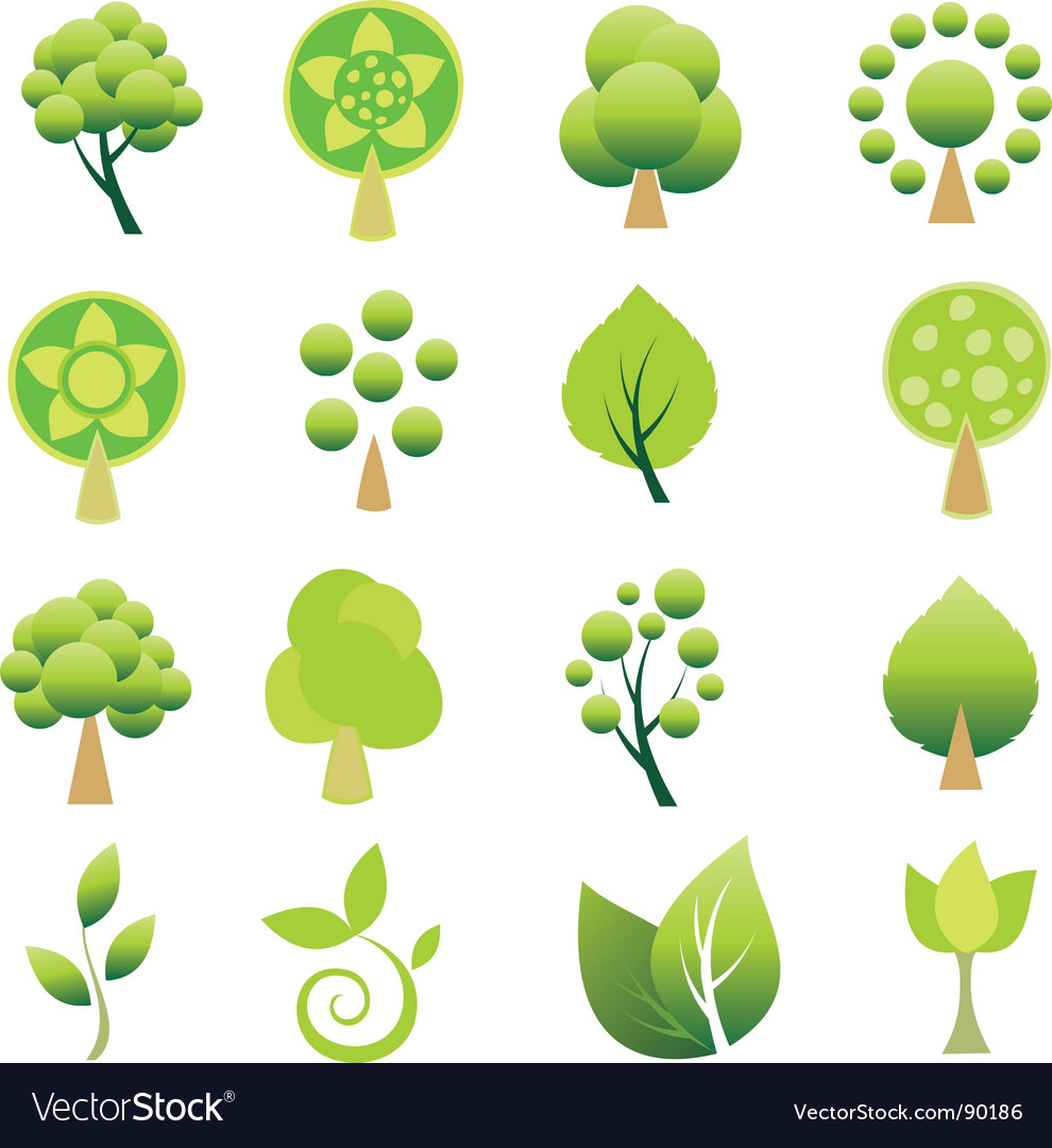 Tree logos vector image