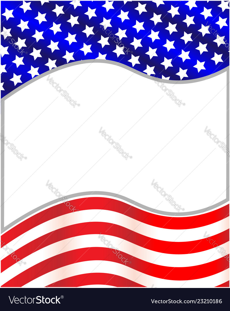 Us flag wave pattern frame