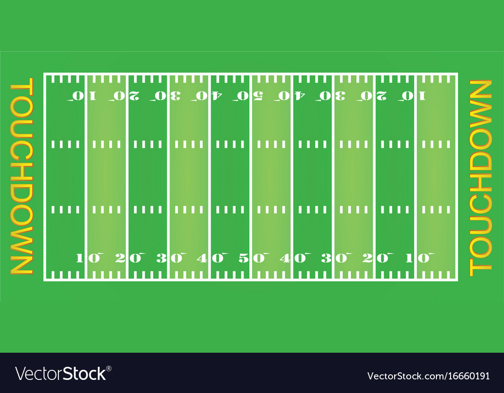 american football field royalty free vector image rh vectorstock com football field vector images football field vector file