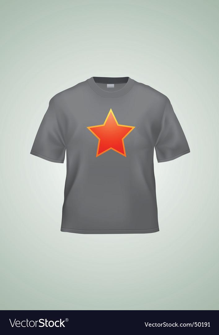 Black t-shirt vector image