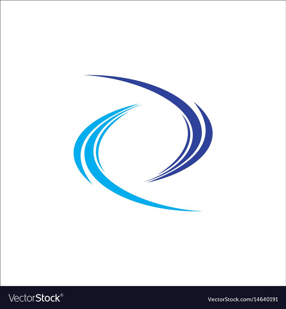 Circle abstract wave logo