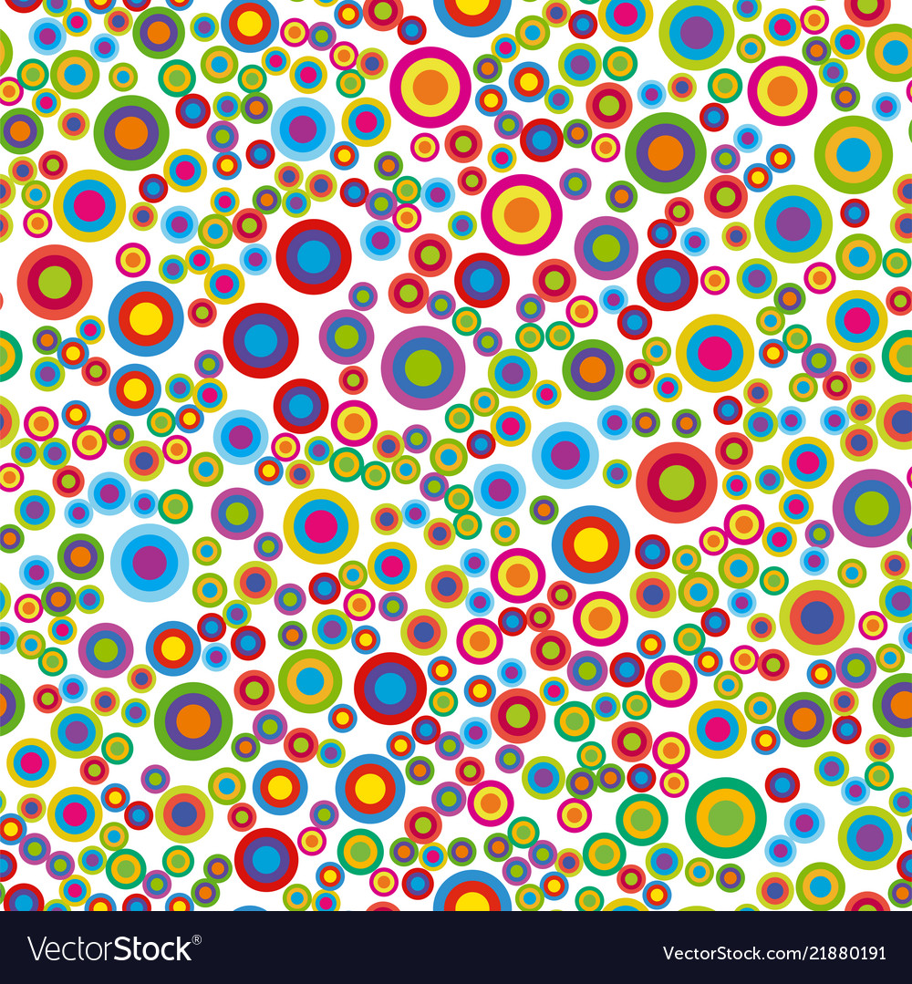 Colorful psychedelic circles