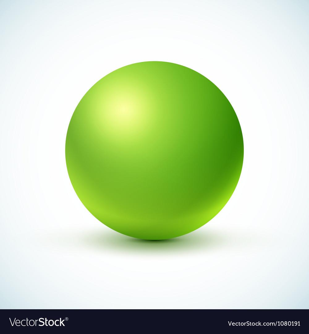 Green glossy sphere