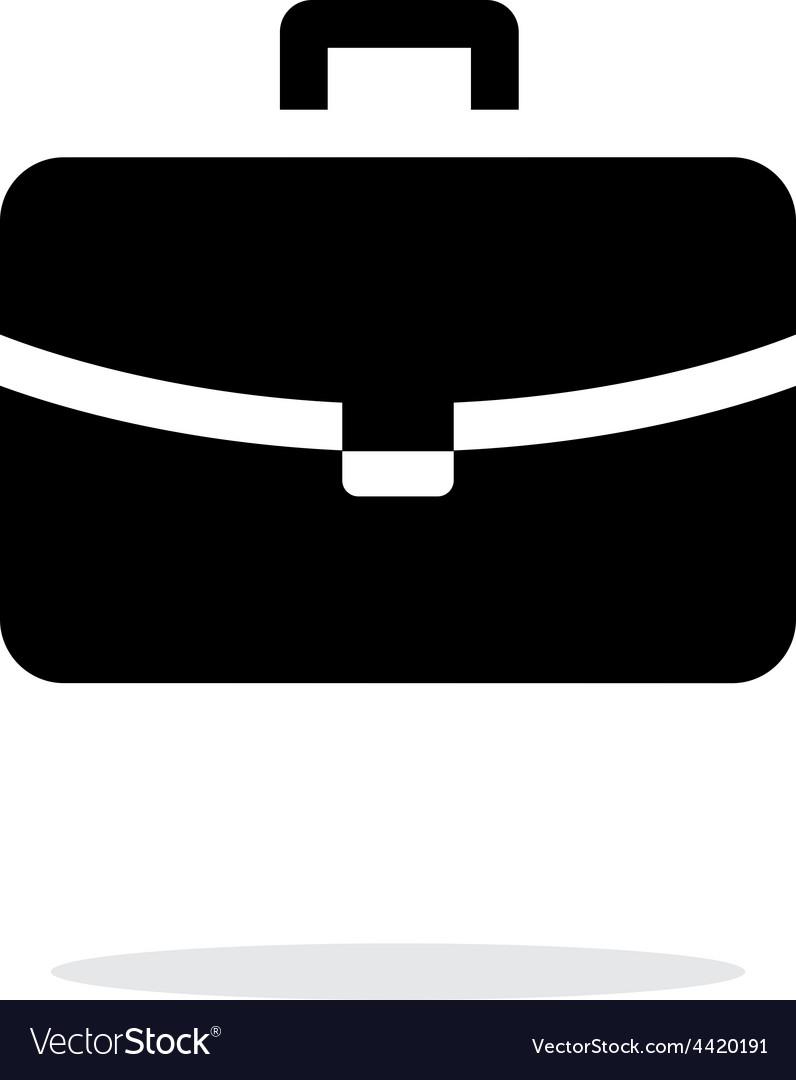 Handbag simple icon on white background